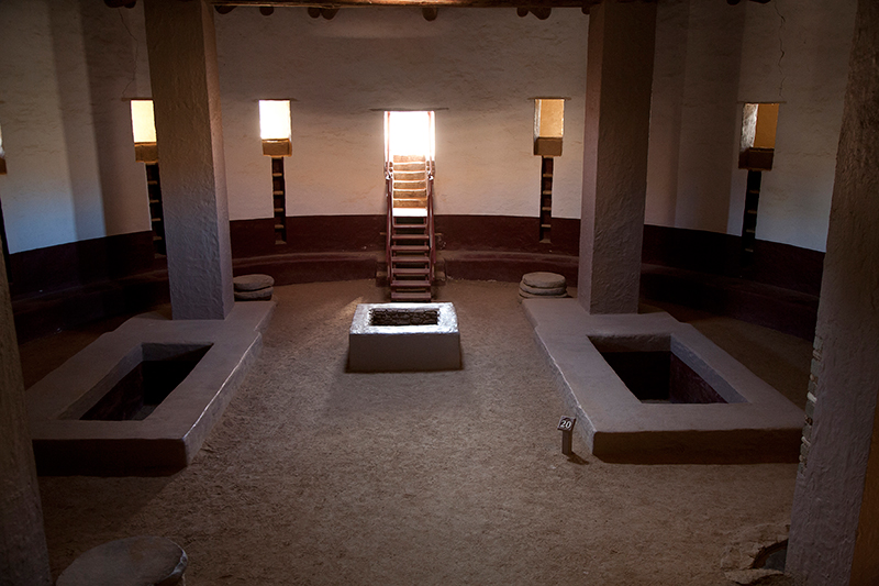 Reconstructed Great Kiva, Aztec Ruins, New Mexico