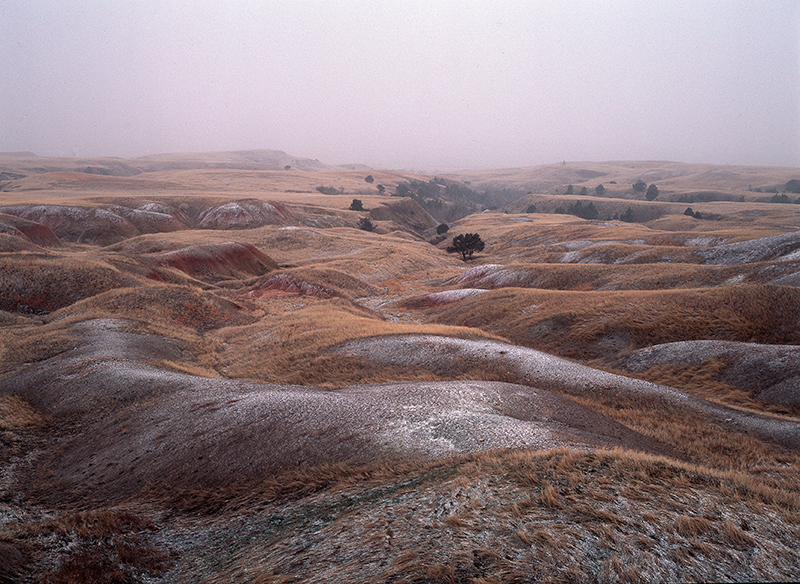 Winter Badlands, South Dakota