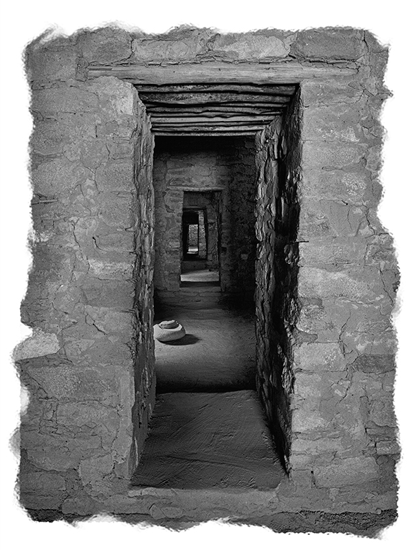 Doorways, Manos and Metate, Aztec Ruins, New Mexico