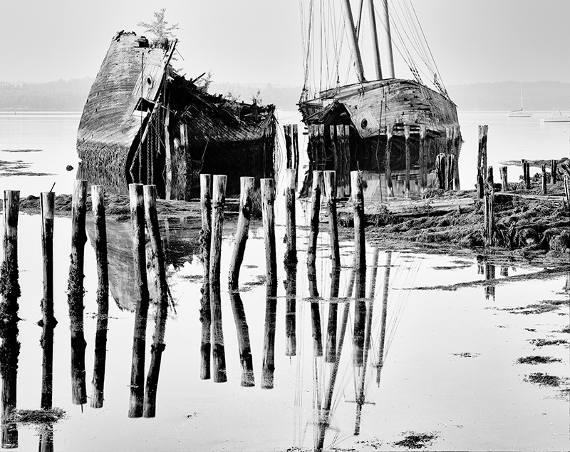 Pilings, Tall Ships, Sheepscot River, Maine