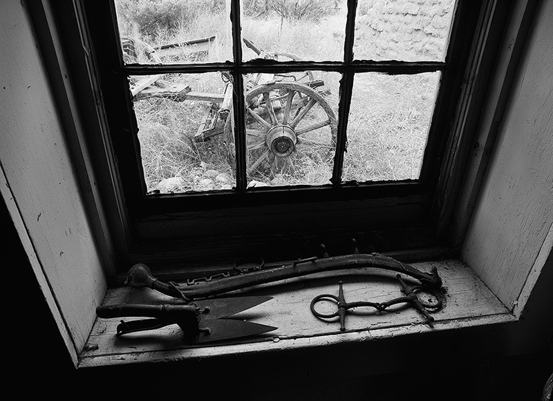Ranch Window, Salmon Family Homestead, New Mexico