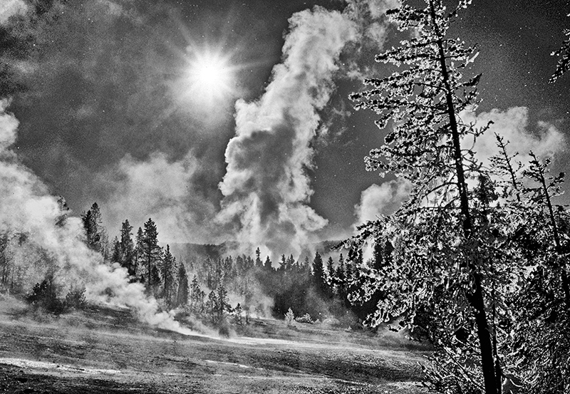 Winter, Norris Geyser Basin, Yellowstone