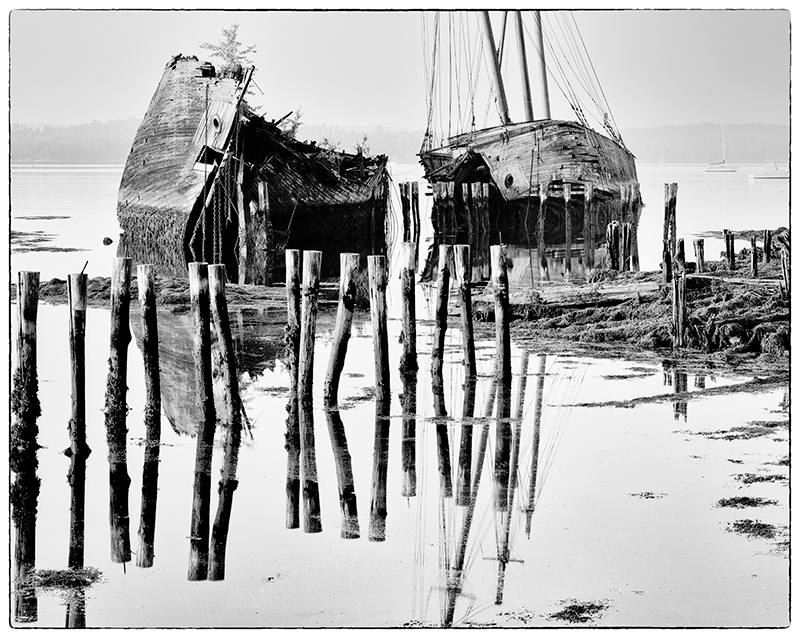 Pilings, Tall Ships, Sheepscot River, Maine#1