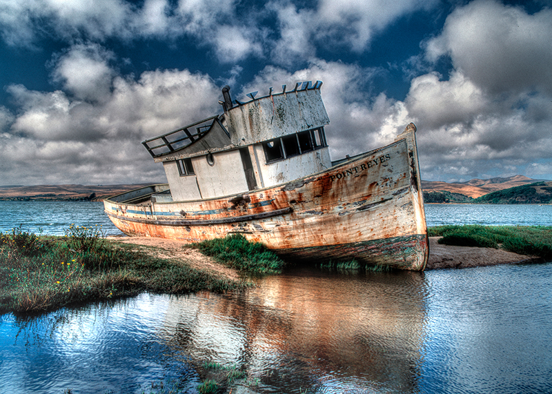 Abandoned Fishing Boat, Tomales Bay, Point Reyes National Seashore