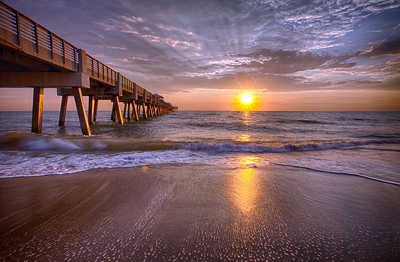 Sunrise Juno Pier Florida