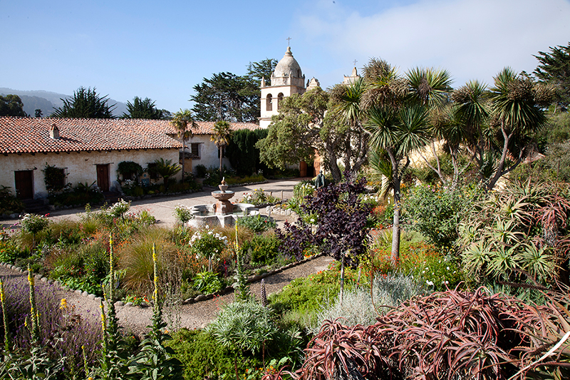 Grounds of San Carlos Borromeo de Carmelo Mission, California