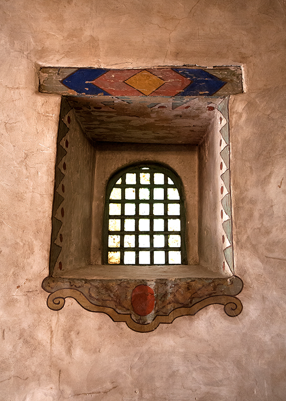 Window and Lentil, Carmel Mission, California