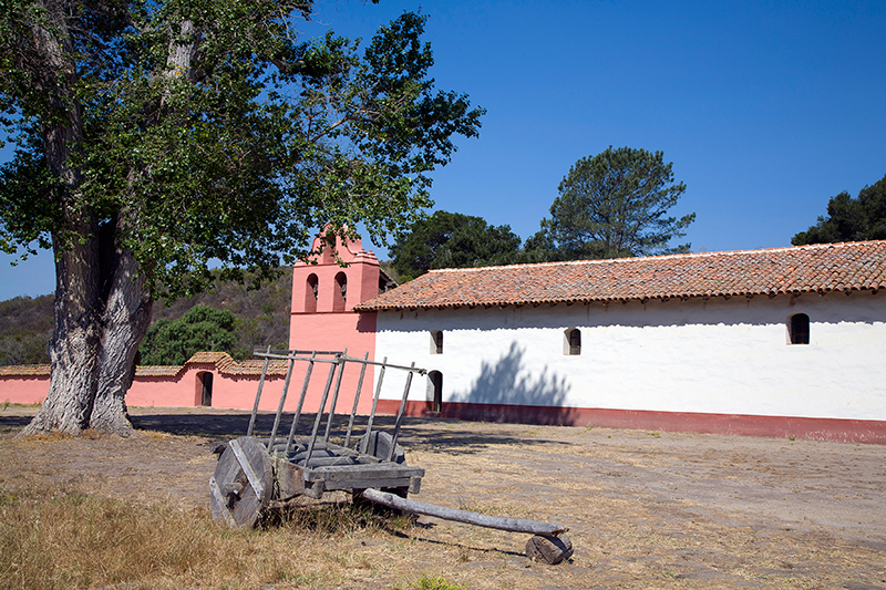 Mission La Purisma Concepcion, Donkey Cart, California
